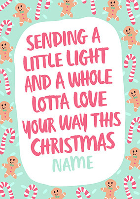 A whole lotta Love Personalised Christmas Card