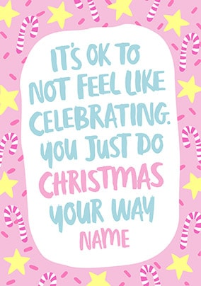 Do it Your way Personalised Christmas Card