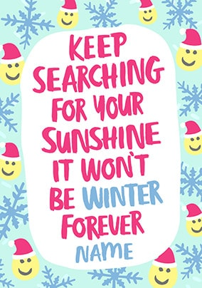Search for Sunshine Personalised Christmas Card