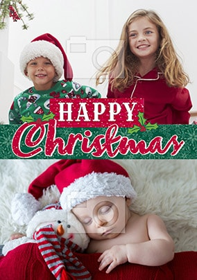 Happy Christmas Banner Multi Photo Card