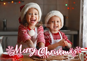 Merry Christmas Full Photo Landscape Card