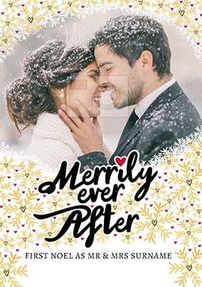 First Christmas Mr & Mrs Photo Card