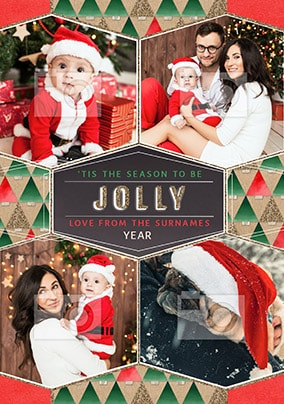 Be Jolly Family Multi Photo Christmas Card