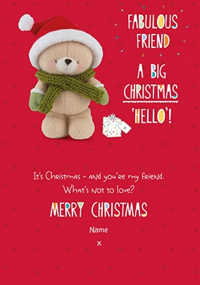 Fabulous Friend Personalised Christmas Card