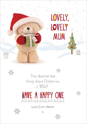 lovely lovely mum personalised christmas card