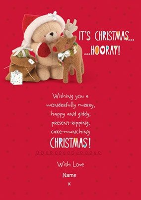 Christmas Hooray! Personalised Card