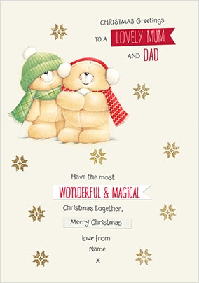 Lovely Mum & Dad Personalised Christmas Card