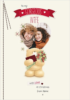 Gorgeous Wife Christmas Photo Card