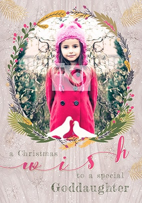 Goddaughter Christmas Wish Photo Card
