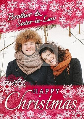 Brother & Sister-In-Law Happy Christmas Photo Card