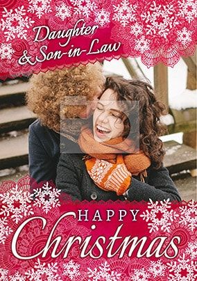 Daughter & Son-In-Law Happy Christmas Photo Card