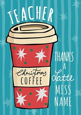 Christmas Cards For Teachers.Teacher Christmas Cards Funky Pigeon