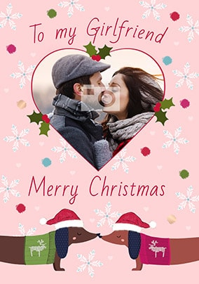 girlfriend love you sausage photo christmas card