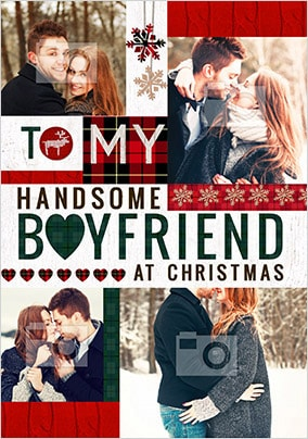 To My Boyfriend At Christmas Photo Card