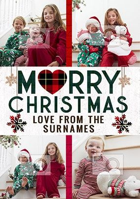 Christmas From The Family Multi Photo Card