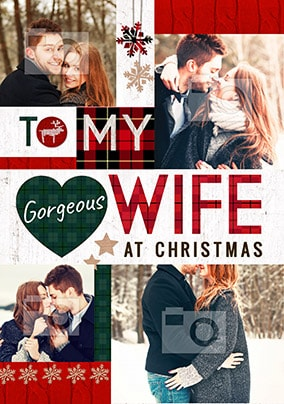 Gorgeous Wife At Christmas Multi Photo Card