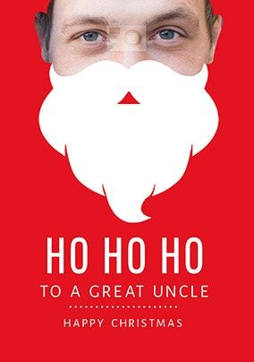 Great Uncle Santa Beard Photo Card