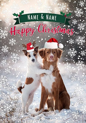 Festive Dogs personalised Christmas Card