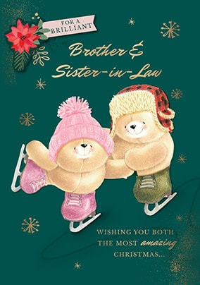 Forever Friends - Brother & Sister-In-Law Personalised Card