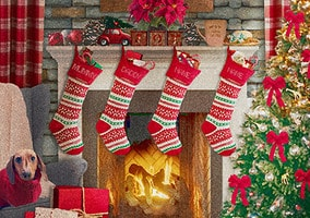 Christmas Stocking Personalised Card