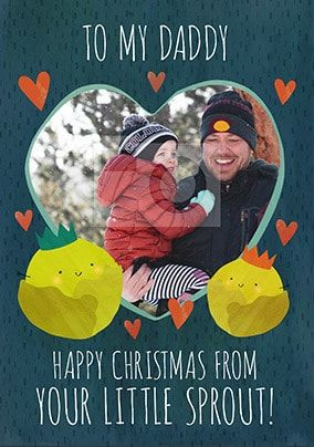 Daddy from your Little Sprout personalised Christmas Card