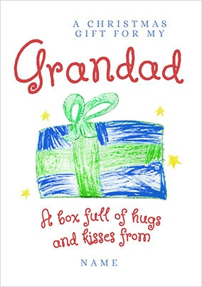 Christmas Gift for Grandad Personalised Card
