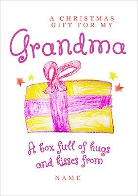 Christmas Gift for Grandma Personalised Card