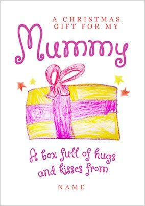 Christmas Gift for Mummy Personalised Card