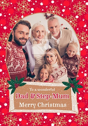 Dad & Step-Mum at Christmas Photo Card