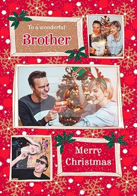 Brother at Christmas Photo Card