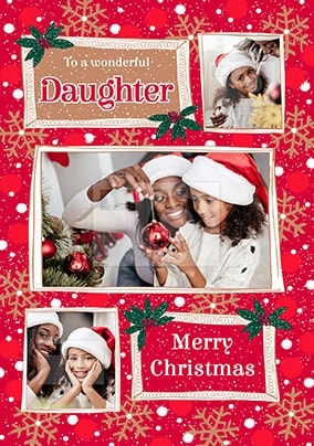 Daughter at Christmas Photo Card