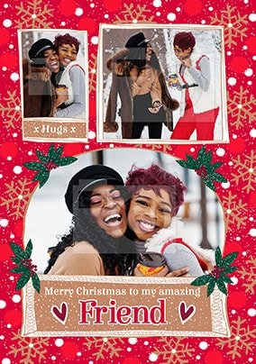 Friend at Christmas Photo Card
