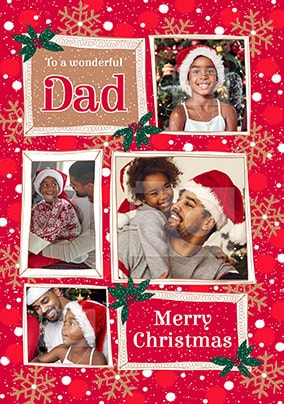 Dad at Christmas Photo Card
