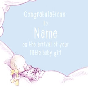 Cloud Baby - Congratulations Pink