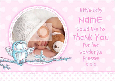 Baby Thank You Cards Personalised Funky Pigeon