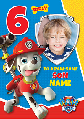 graphic about Paw Patrol Printable Birthday Card named Paw Patrol Birthday Playing cards Funky Pigeon