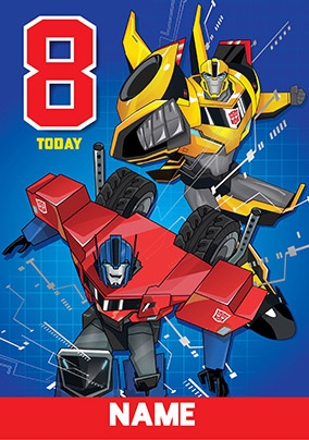 Transformers Happy Birthday Card