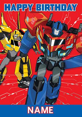 Transformers Happy Birthday Card Funky Pigeon