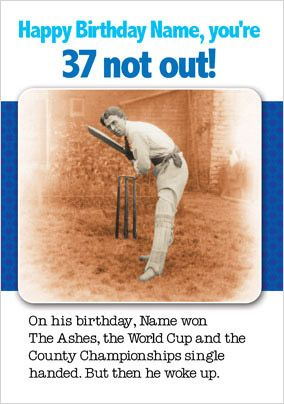 Dreaming of Cricket Birthday Card - Jolly Follies