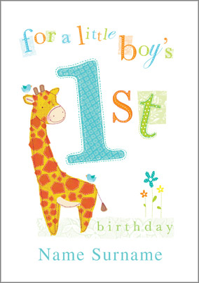 abacus one year old birthday card little boys 1st birthday