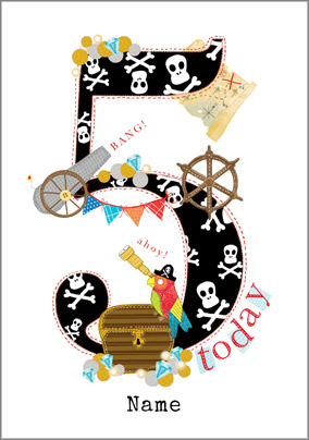Year Old Birthday Card Pirate 5 Today NO Preview Image Is Not Found