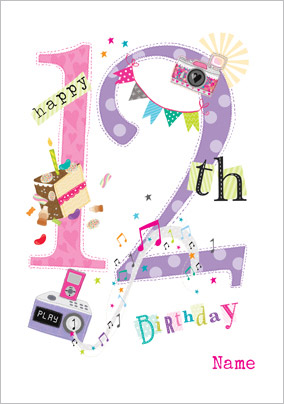 Abacus Twelve Year Old Birthday Card Birthday Party 12 Today