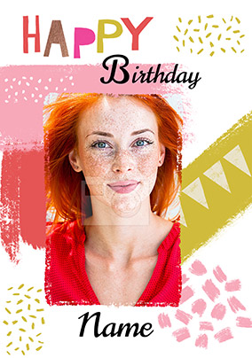 Happy Birthday Girly Photo Card
