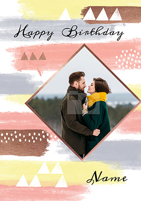 Diamond Photo Birthday Card