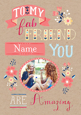 You Are Amazing Photo Birthday Card