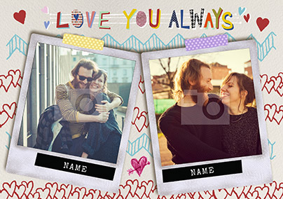 Love You Always Multi Photo Card