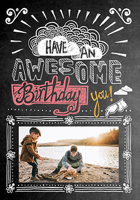 Have An Awesome Birthday Photo Card