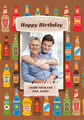 Dad Birthday Fab Son Photo Card