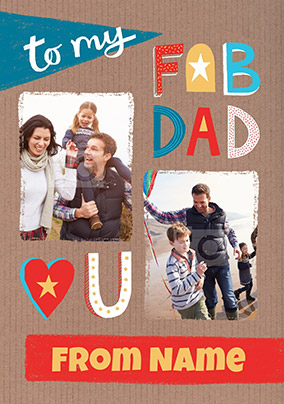 Fab Dad Photo Birthday Card
