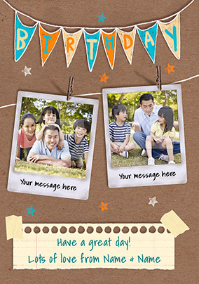 Birthday Bunting Photo Card